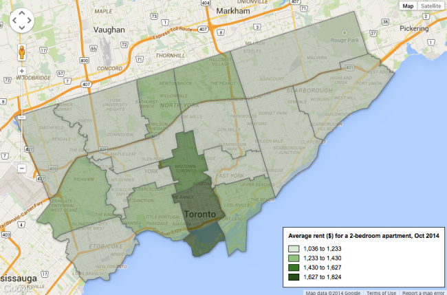 Remarkable Map Apartment Rental Costs Across Toronto Rhb Magazine Home Interior And Landscaping Ologienasavecom