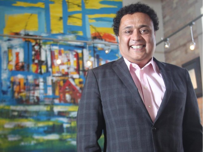Bob Dhillon, president and chief executive of Mainstreet Equity Corp., at his office in Calgary.