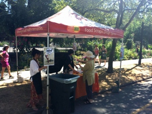 Vancouver residents who still don't have an organics waste diversion program at their apartment buildings have to rely on food scraps drop spots. (Chad Pawson/CBC)