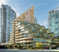 World's tallest mostly wood building poised to be built in downtown Vancouver alongside Erickson classic