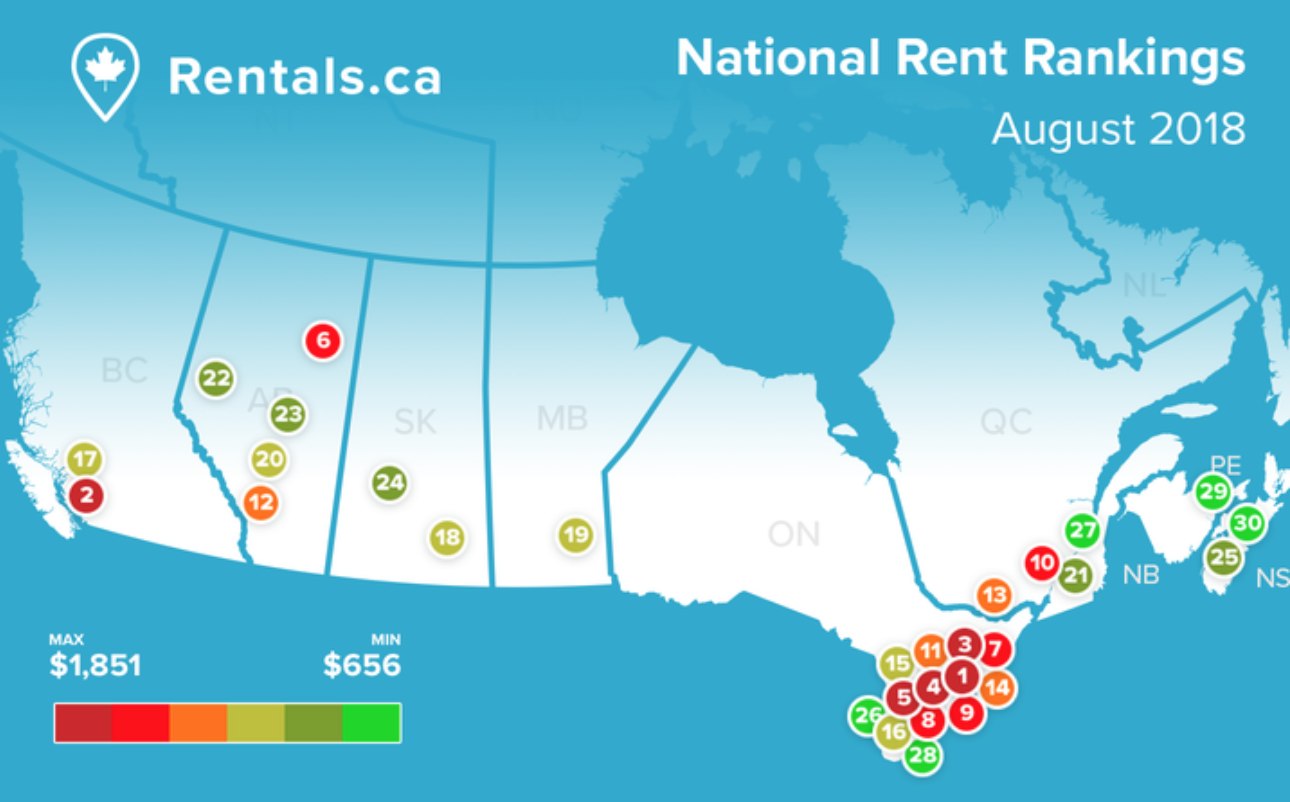 Rentals.ca August 2018 Rent Report