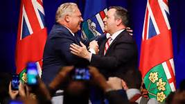Kenney and Ford discuss carbon tax, pipelines at Toronto meeting