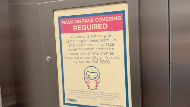 TORONTO MAKES MASKS MANDATORY IN APARTMENT BUILDINGS