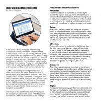 CMHC's Rental Market Forecast