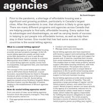 Social Letting Agencies