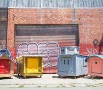 Oakland artist repurposes trash into vibrant houses for the homeless