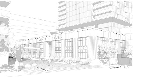 The historic Seattle Times office building is the centerpiece of the project, according to plans submitted to the city of Seattle.