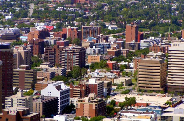 The survey found an average two-bedroom apartment in Calgary in new and existing structures rented for $1,267 in April. The highest rent among Alberta's urban centres was in Wood Buffalo where an average two-bedroom apartment rented for $2,061 in April. Photograph by: Courtesy , Wikimedia Commons