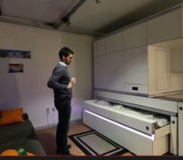 Like a Jedi, you control this micro apartment with your hand