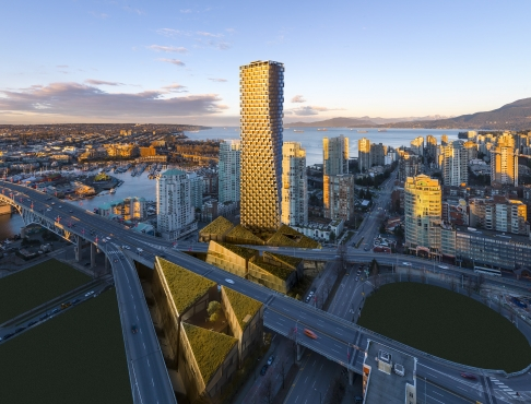 An artist's impression of Vancouver House, which will dominate the city's skyline. Photo: SCMP Pictures