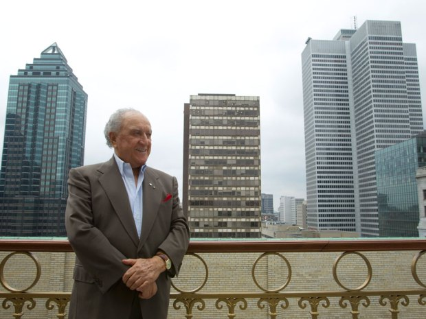 Architect and developer David Azrieli on the terrace of his office in Montreal in 2010. Even at an advanced age, Mr. Azrieli remained heavily involved with the operation of his companies.