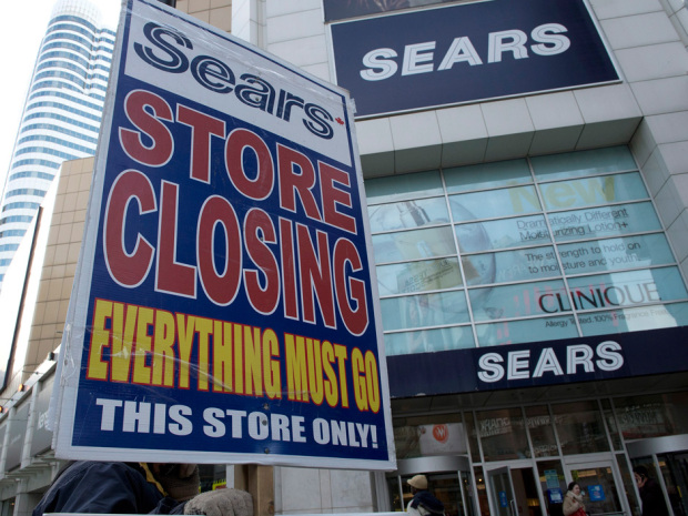 Sears Canada has sold leases to some of its most prominent locations, including its flagship location at the Toronto Eaton Centre. Frank Gunn/The Canadian Press