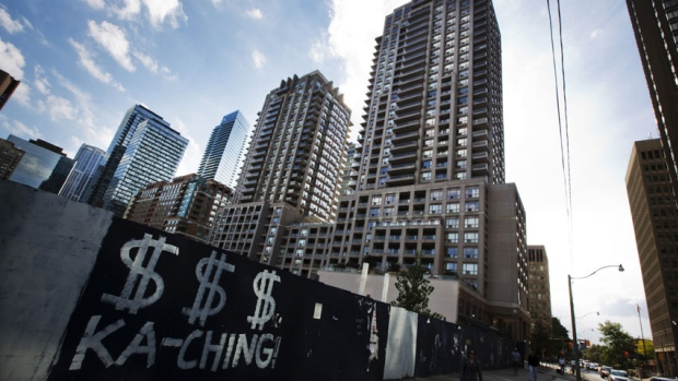 The average size of a Toronto condo rented in 2014 shrank to 761 square feet last year.  (Mark Blinch/Reuters )