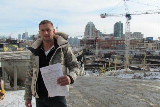 John Wilk, 32, put $40,000 down on a one-bedroom plus den unit back in November of 2011. SUSAN PIGG/TORONTO STAR