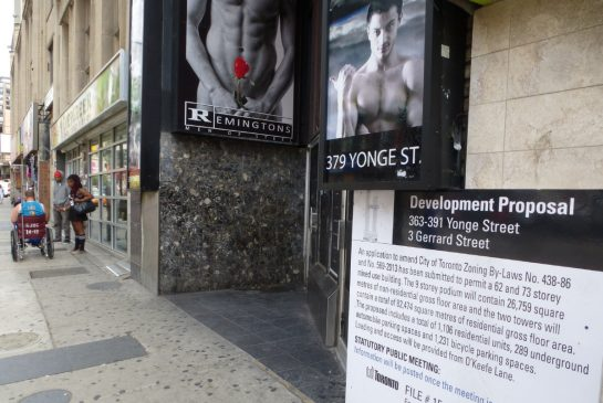 SUSAN PIGG/ TORONTO STAR 363 Yonge St. is one of the proposed condo developments along the busy stretch of Yonge St. from One Yonge to Eglinton Ave.