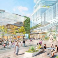 One of Vancouver's most ambitious commercial-residential developments is being scaled back