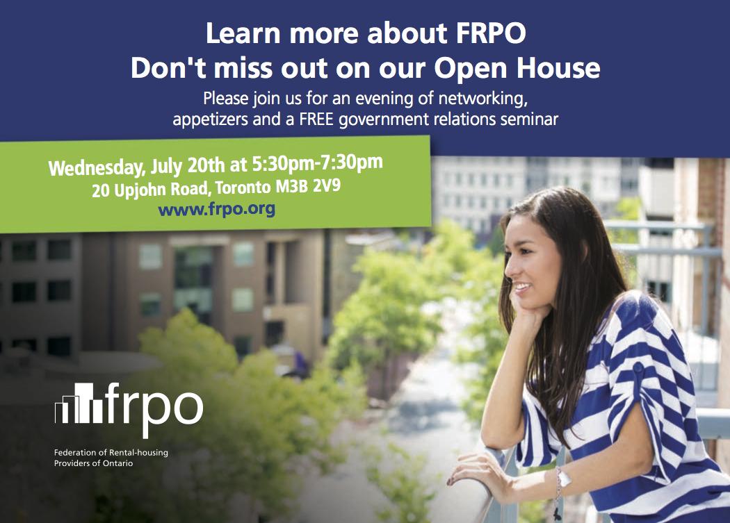 FRPO Open House