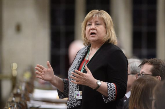 Labour Minister MaryAnn Mihychuk answers a question during Question Period in the House of Commons on Parliament Hill in Ottawa, on Monday, March 21, 2016. THE CANADIAN PRESS/Adrian Wyld