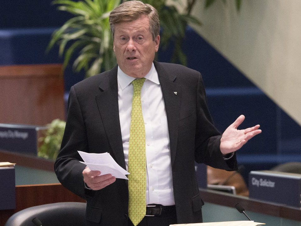 Mayor John Tory pitches tax hike to fund transit & housing