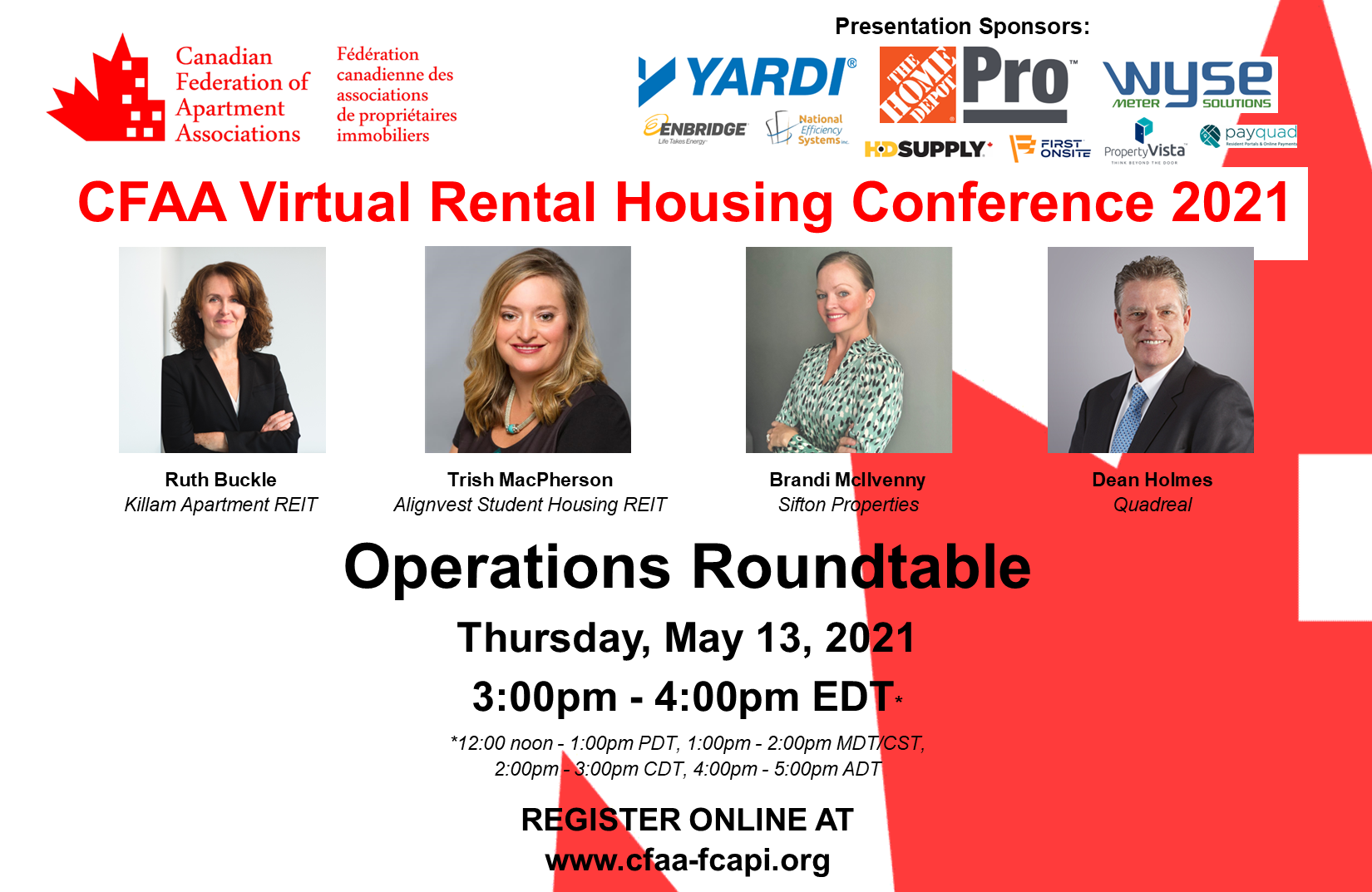 REGISTER FOR THE OPERATIONS ROUNDTABLE